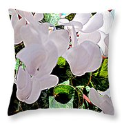 Floral Clouds Throw Pillow