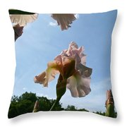 Floral Clouds Throw Pillow