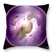 Floral Crystal Ball Throw Pillow