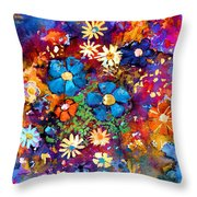 Floral Dance Fantasy Throw Pillow