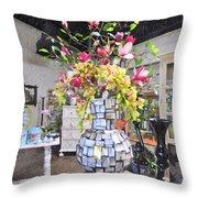 Floral Decor Throw Pillow
