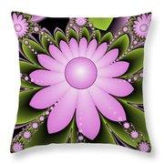 Floral Decorations Throw Pillow