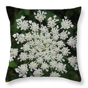 Floral Disc Throw Pillow