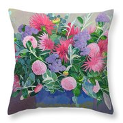 Floral Display Throw Pillow