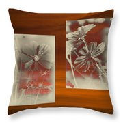 Floral Early Garden Light 07 Throw Pillow