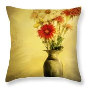 Floral Expression  Throw Pillow