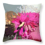 Floral Fiesta - S33ct01 Throw Pillow