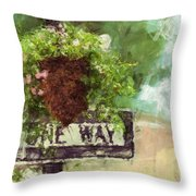 Floral - Flowers - One Way Throw Pillow