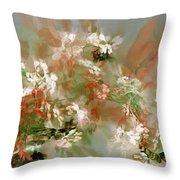 Floral Fractal 030713 Throw Pillow