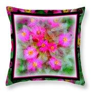 Floral Framework Throw Pillow