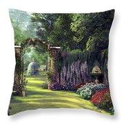 Floral Garden Throw Pillow