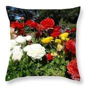 Floral Gardens Throw Pillow