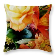 Floral Harmony Throw Pillow