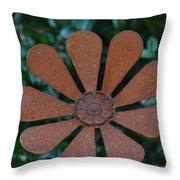 Floral Metal Art Throw Pillow