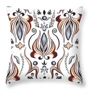 Floral Pattern I Throw Pillow