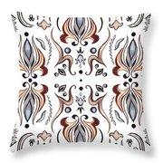 Floral Pattern IIi Throw Pillow