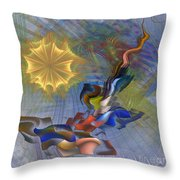 Floral Predator - Square Version Throw Pillow