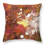 Floral Print Throw Pillow by Ankeeta Bansal