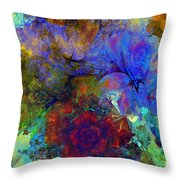 Floral Psychedelic Throw Pillow