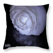 Floral Reflections 4 - Camellia Throw Pillow
