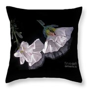 Floral Reflections Throw Pillow