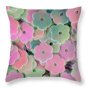 Floral Shape Sequins Throw Pillow