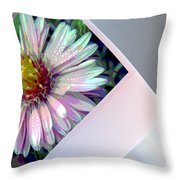 Floral Snap Shot Throw Pillow