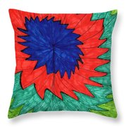 Floral Spin Throw Pillow