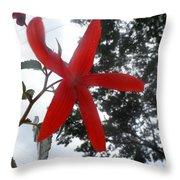 Floral Starfish Throw Pillow