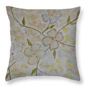 Floral Stem Throw Pillow