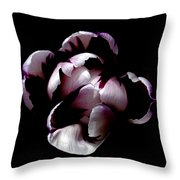 Floral Symmetry Throw Pillow by Rona Black