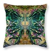 Floral Synapse 2 Throw Pillow