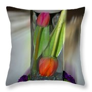 Floral Table Piece Throw Pillow