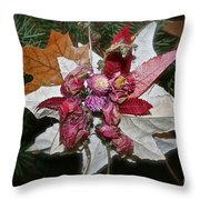 Floral Tree Ornament Throw Pillow