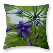 Floral Triptych 3. Throw Pillow