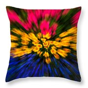 Floral Triple Zoom Throw Pillow