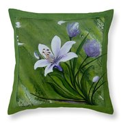 Floral Triptych 2 Throw Pillow