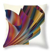 Floral Trumpets Throw Pillow