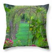 Floral Window Throw Pillow