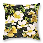 Floral Yellow Throw Pillow
