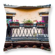 Florence Balcony Throw Pillow
