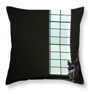 Florence Blumenthal Haunts The Halls Throw Pillow