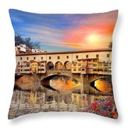Florence Bridge Throw Pillow