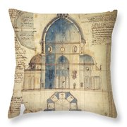 Florence: Brunelleschi Throw Pillow
