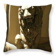Florence Lion Throw Pillow