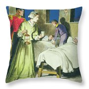 Florence Nightingale From Peeps Throw Pillow by Trelleek