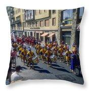 Florence Parade Throw Pillow