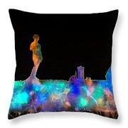 Florence Skyline - Nighttime 1 Throw Pillow