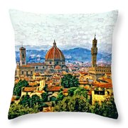 Florence Watercolor Throw Pillow