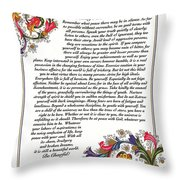 Florentine Desiderata Poster Throw Pillow